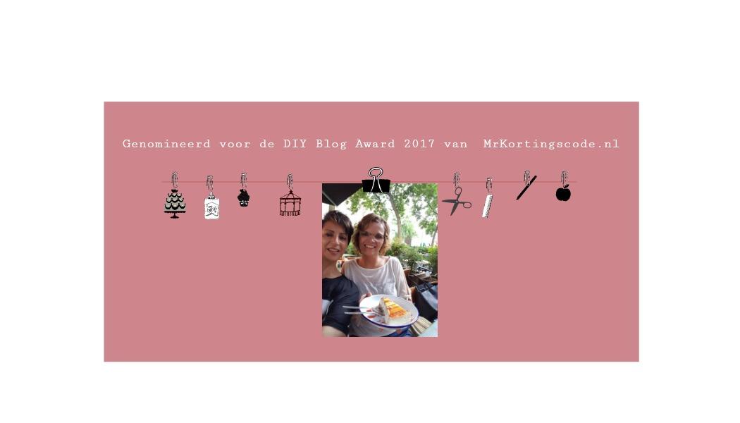 Yes!!!Genomineerd voor de DIY Blog Award 2017 van MrKortingscode.nl - Persoonlijk