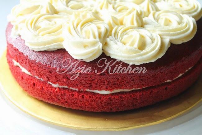 Kek Red Velvet Yang Gebu dan Moist