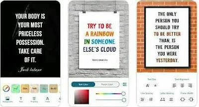 Aplikasi Pembuat Quotes - Quotes Creator (Piyush Patel)
