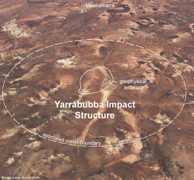 The Yarrabubba Impact Structure. Credit: Google Earth