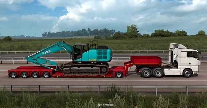 Euro Truck Simulator 2 terá novas carretas prancha baixa