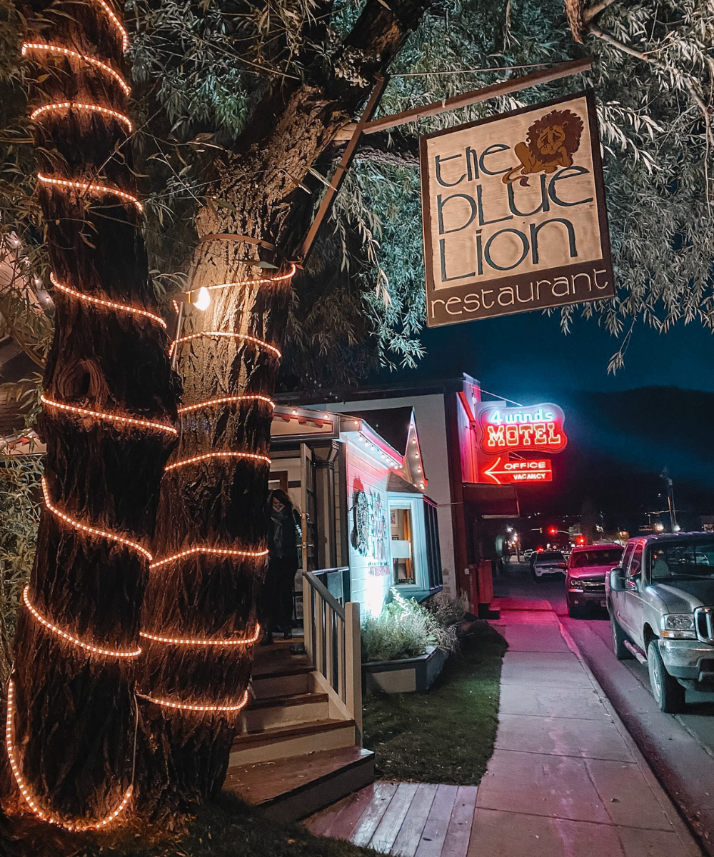 Blue Lion is a delicious, upscale dinner restaurant in Jackson Hole, Wyoming