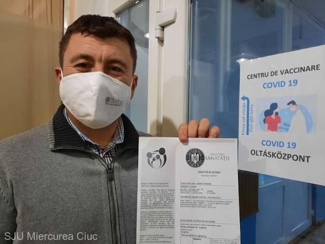 Hargita megye: Borboly Csaba, a megyei tanács elnöke is megkapta az oltást