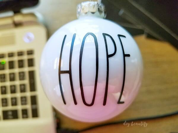 DIY HOPE Rae Dunn ornament