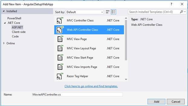 Angula2  Net Core MVC Project Setup |  net tips and tricks