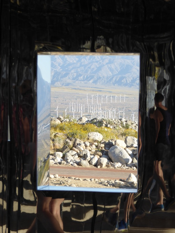Palm Springs windmills view Mirage mirror house
