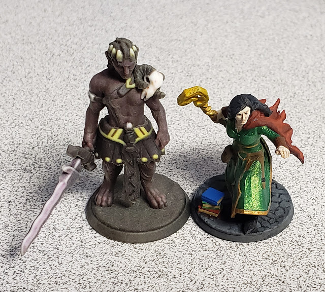 Graz'zt and Iggwilv minis