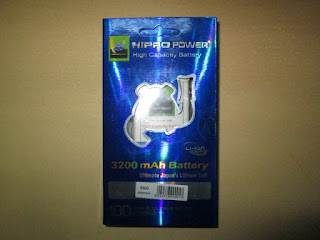 Baterai Blackberry Dakota 9900 Double Power 3200mAh Plus Tutup Merk Hippo