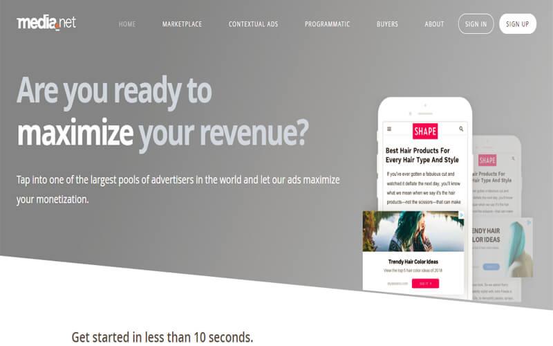 One of the best Google Adsense alternative - Media.net