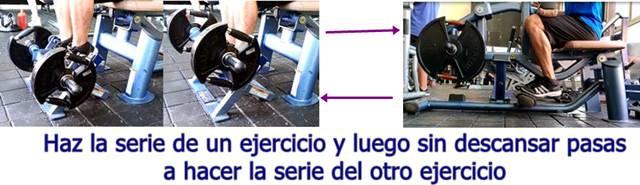Biserie de ejercicios dorsiflexión y plantiflexión en máquina