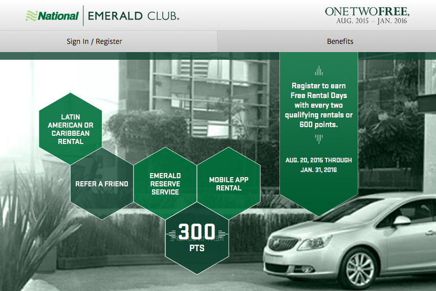 Rewards Canada National Car Rental Rent Rent Reward Returns Earn