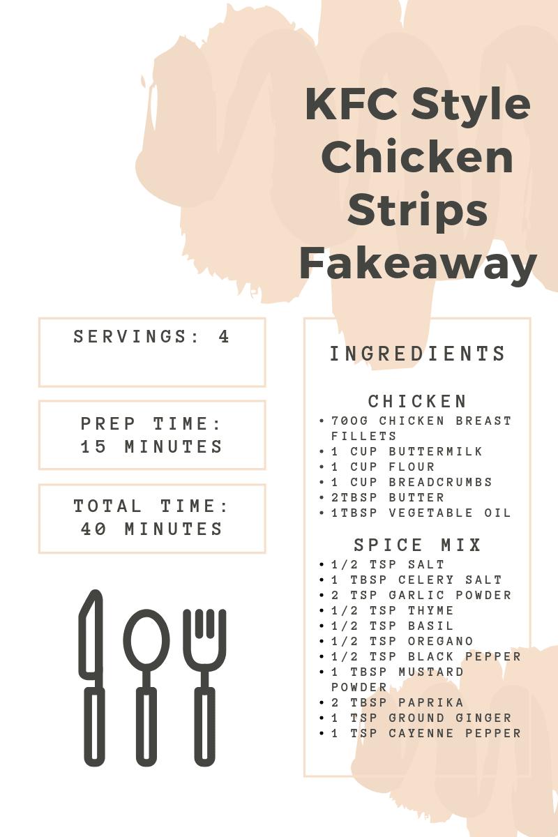 KFC Fakeaway Recipe