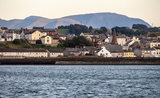 Photo of another view of Maryport from the Solway Firth with the northern fells behind