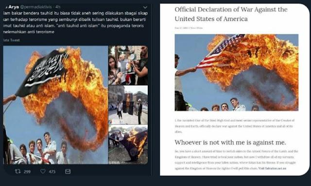 Abu Janda Sebar Foto Hoax Pembakaran Bendera Tauhid, Netizen: Pak Polisi Tangkap Manusia ini!