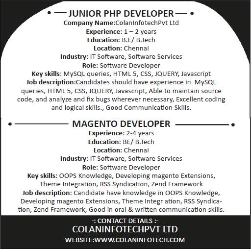 Latest Jobs and Vacancies – Php Developer Job Description