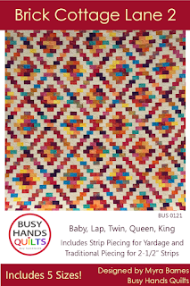 Brick Cottage Lane 2 Quilt Pattern by Myra Barnes of Busy Hands Quilts