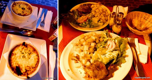 Pratos do restaurante Le Tambour d'Arcole, em Paris