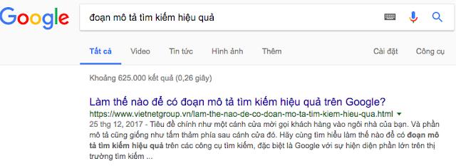 Đoạn mô tả tìm kiếm hiệu quả VietNetGroup