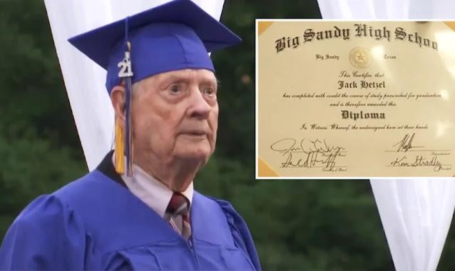 Pastor realiza sonho de conquistar diploma do ensino médio aos 99 anos