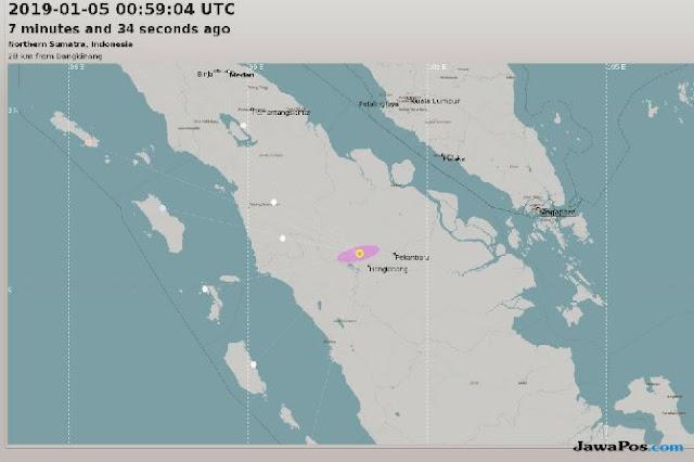 Pertama di Riau, Gempa Bumi Terjadi di Bangkinang