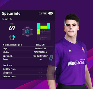 PES 2020 Faces Riccardo Sottil by Random Facemaker