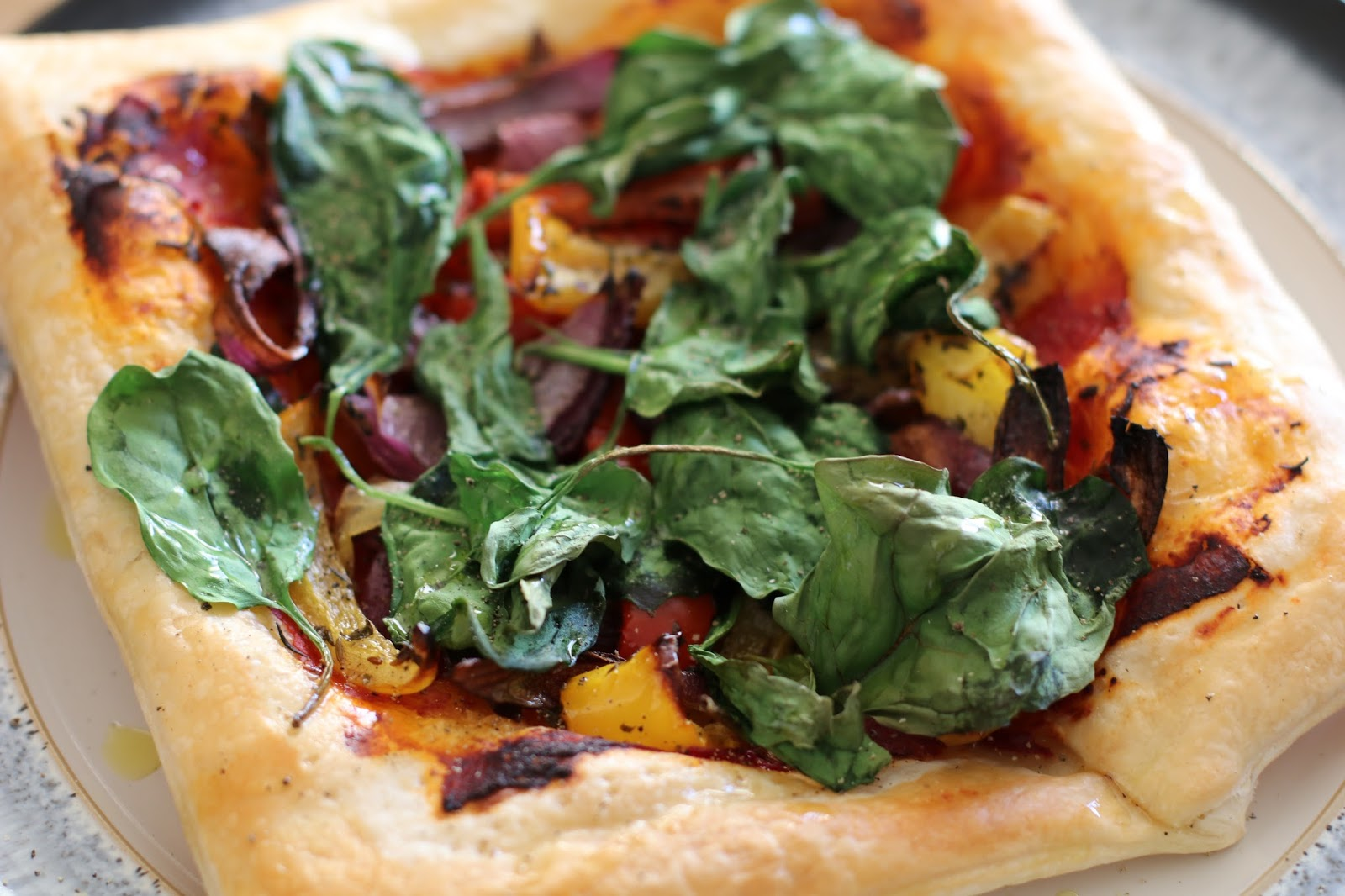 Red Pepper & Spinach Galettes