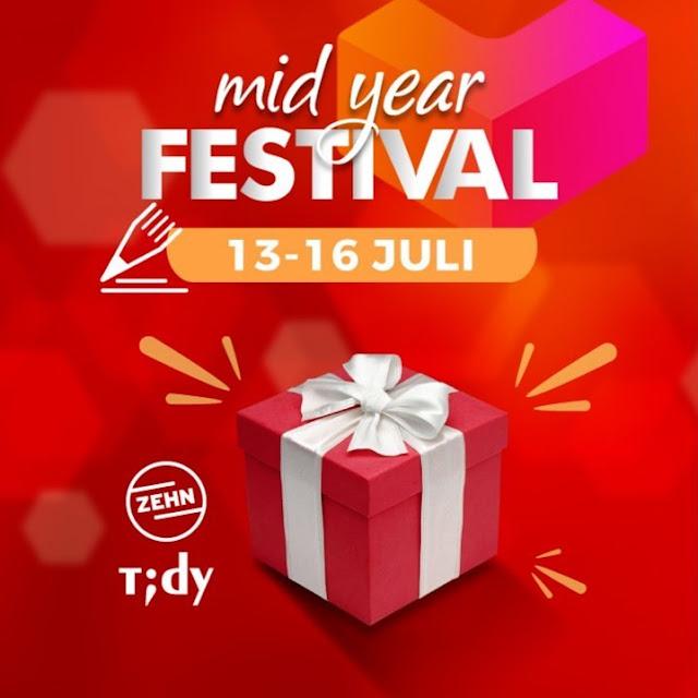 #Mitra10 - #Promo Mid Year Festival Diskon Hingga 40% Belanja di LAZADA (s.d 16 Juli 2019)