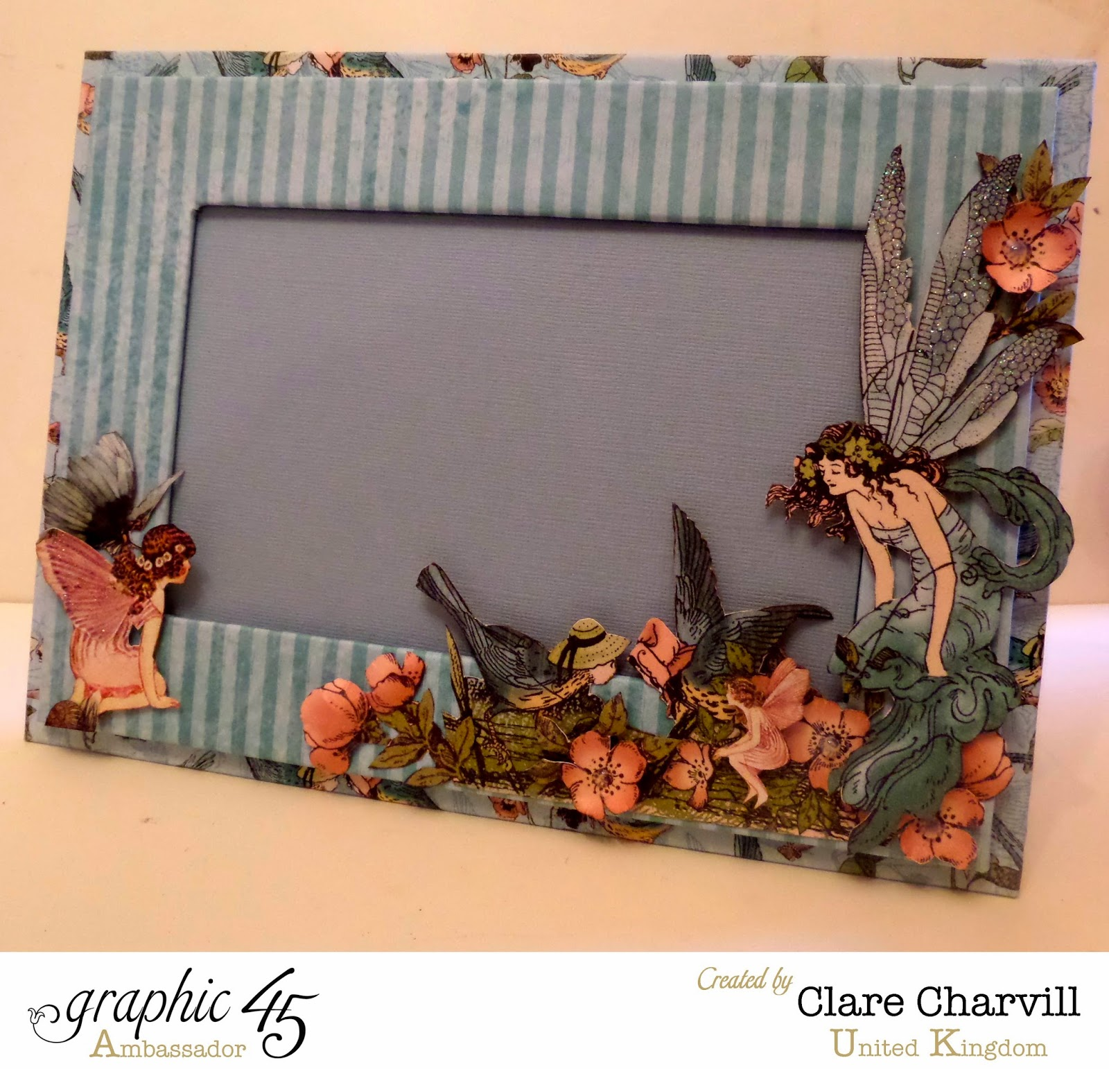 Once Upon a Springtime Single Picture Frame Clare Charvill Graphic 45