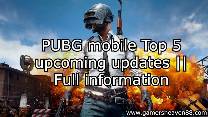 PUBG mobile Top 5 upcoming updates || Full information