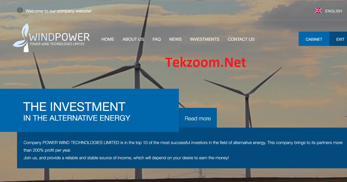 [SCAM] Preview WindPower [Power Wind Technologies] - Lãi 6-7% cho 25 ngày - Đầu ...