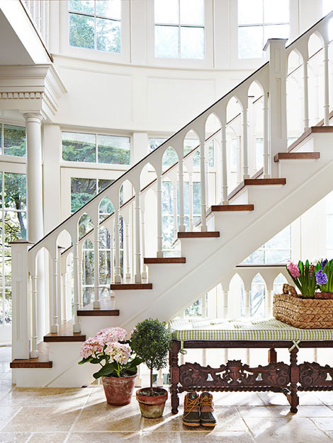 Open Foyer Stairs : Hydrangea hill cottage a one of kind hamptons retreat