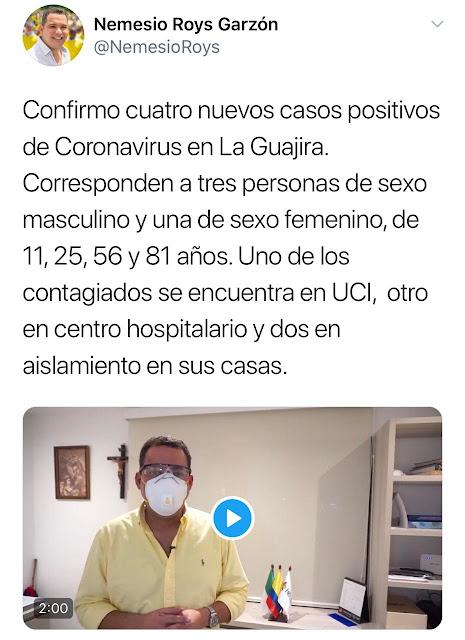 Ya son nueve los casos de Covid 19 en La Guajira, uno falleció