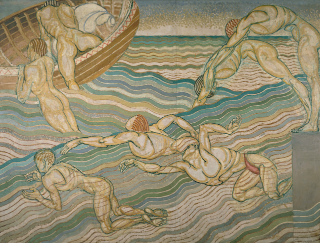 Bathing (1911) Duncan Grant (1885-1978) Oil on canvas 228 x 306 cm. The Tate