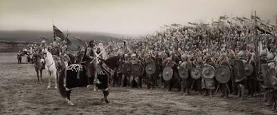 Scène du discours d'Aragorn à la bataille finale, dans Le Retour du Roi