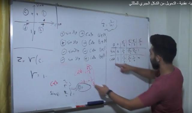 رياضيات بكالوريا- عقدية - التحويل من الشكل الجبري للمثلثي ..