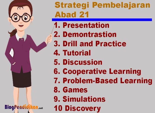 10 Strategi Pembelajaran Yang Tepat Digunakan Dalam Pembelajaran Abad 21