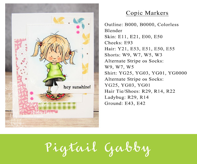 Heather's Hobbie Haven - Color Wednesday - Pigtail Gabby