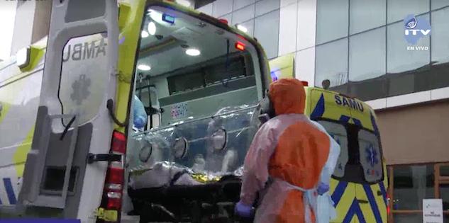 UCI Magallanes aeroevacuaciones pacientes