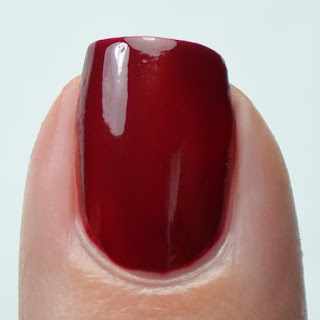 deep red creme nail polish swatch