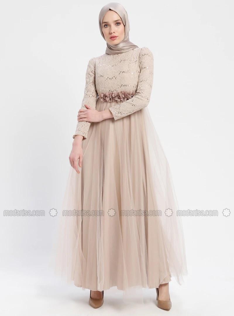 Robes Hijab longues pour soirée , Mode hijab 2019/2020