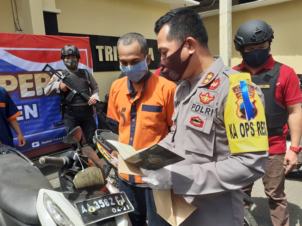 Beli Motor Hasil Curian, Nur Habib Sukarela Serahkan ke Polisi