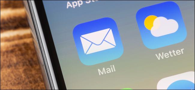 رمز تطبيق Apple Mail على iPhone