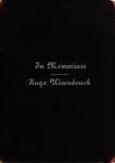 In Memoriam - Hugo Wesendonck