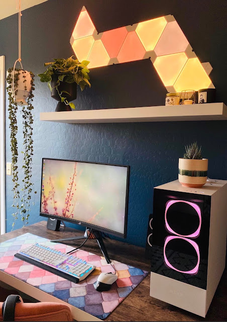 Gorgeous desk area