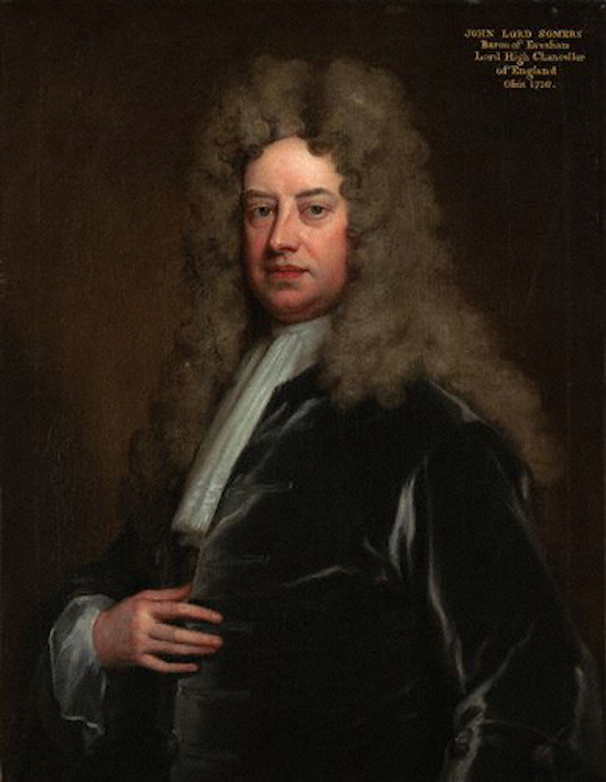 Baron Somers by Sir Godfrey Kneller Image courtesy of the National Portrait Gallery, released via Wikimedia Commons