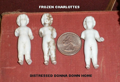 Frozen Charlotte dolls, German, bisque