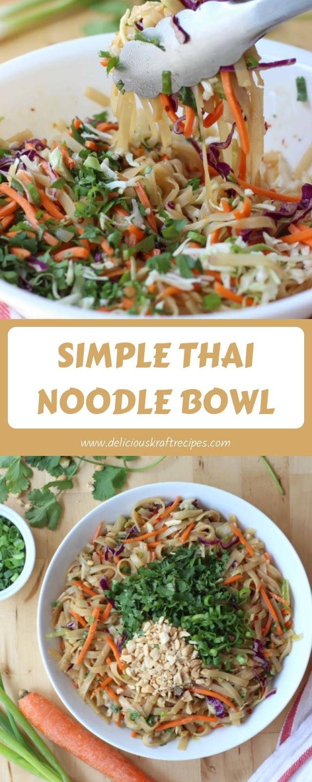 SIMPLE THAI NOODLE BOWL
