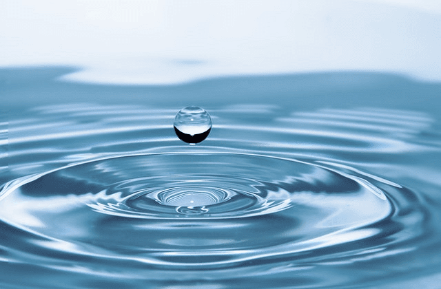 clean water with drop