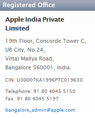 apple laptop registres office address