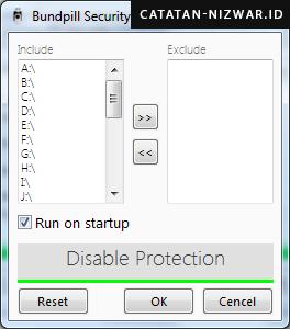 Tampilan Settings Aurora FD Security - Catatan Nizwar ID